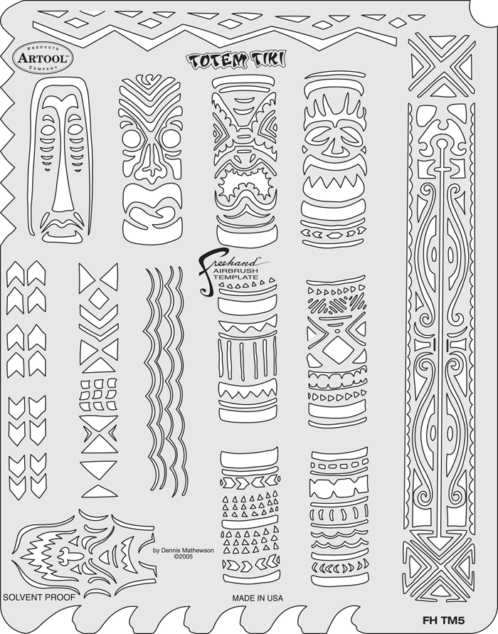 Tiki mastertotem tiki templateanest iwata for Totem pole design template